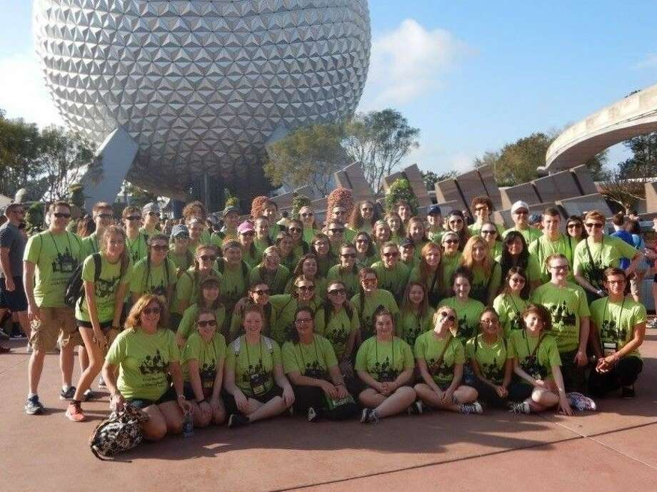 """Students from the Friendswood High School Choirs traveled to Florida during Spring Break to participate in a """"Disney Sings"""" workshop at Epcot on Sunday, March 13."""