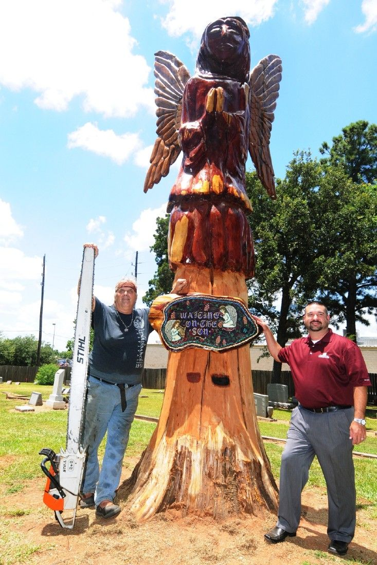Carver kings ryan cook makes art with chainsaws flirts with