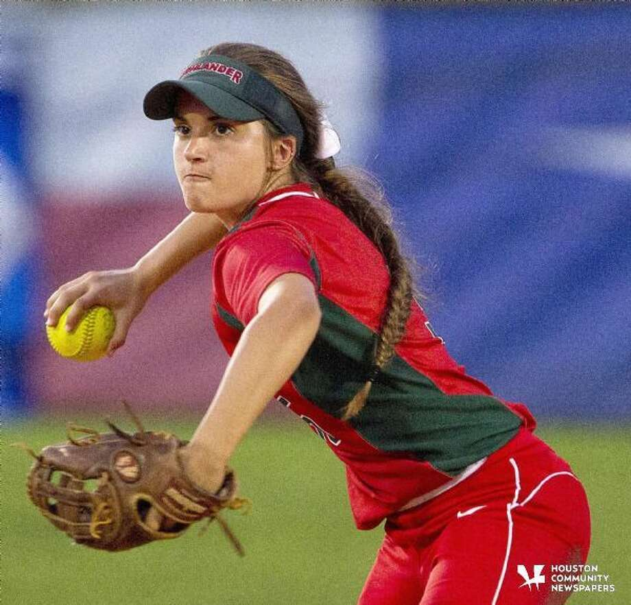 The Woodlands second baseman Leah Starkweather throws to first base in the fifth inning a District 16-6A softball game Wednesday. Oak Ridge defeated The Woodlands 4-3. Photo: Jason Fochtman