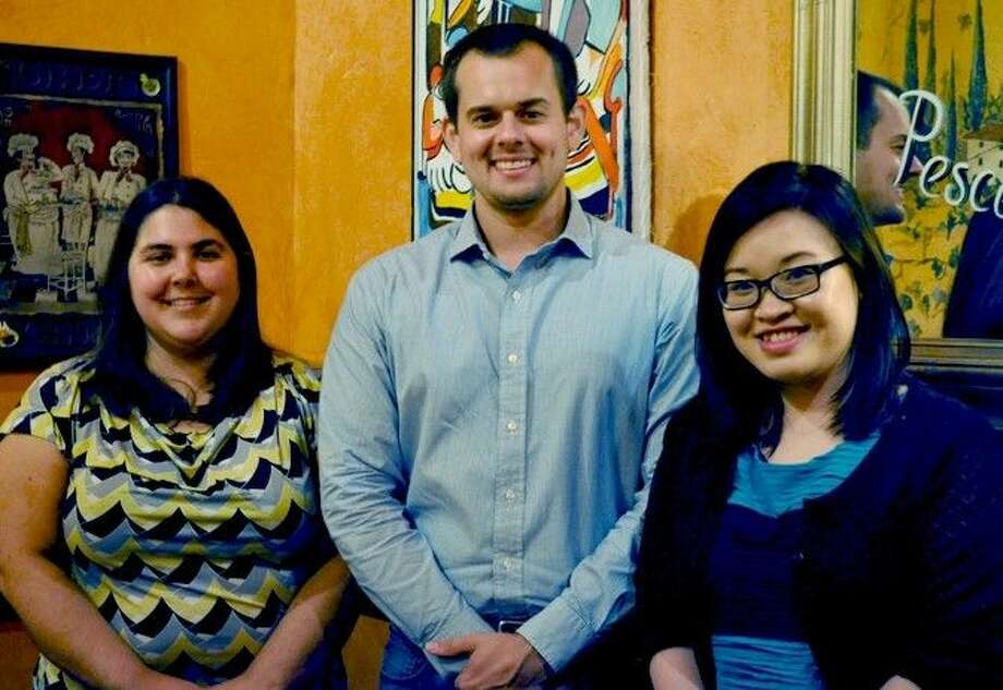 The three residents (from left), Jennifer Parma, Andrew Himsel, and Anh Vu, will rotate through multiple Memorial Hermann campuses to obtain a global perspective of various pharmacy practice models. Photo: Memorial Hermann