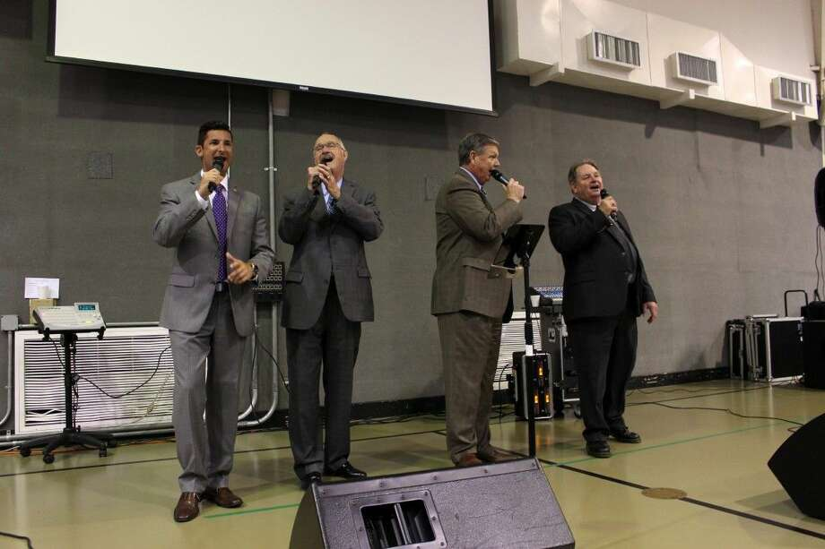 Dignity Gospel photo: Dignity Gospel Quartet performs for Precinct 4 residents. Photo: Submitted