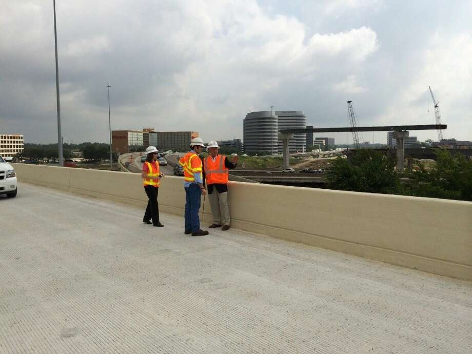 State Rep. Dwayne Bohac, center, gets a tour of the State Highway 290-Interstate 610 interchange which promises to help alleviate traffic in northwest Harris County. Photo: Submitted Photo