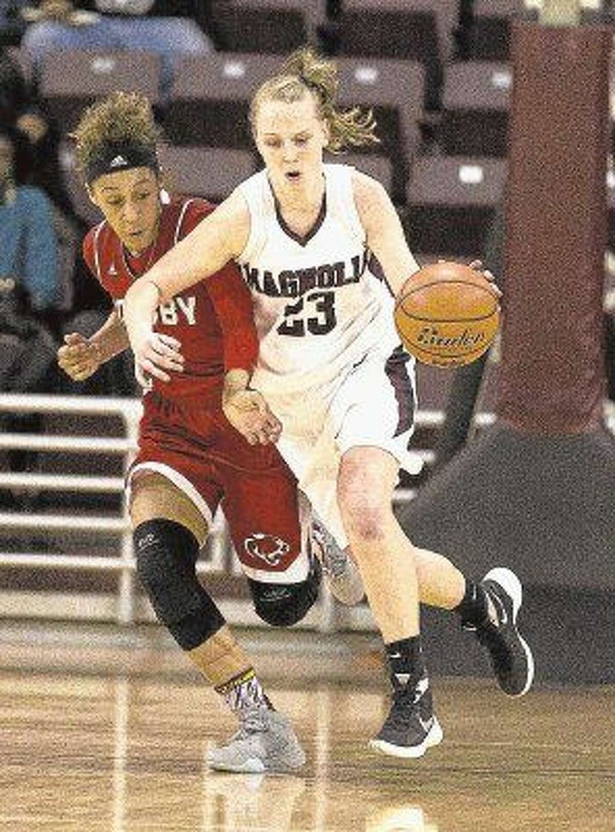 Magnolia junior Alexus Wykoff is the The Courier's Player of the Year.