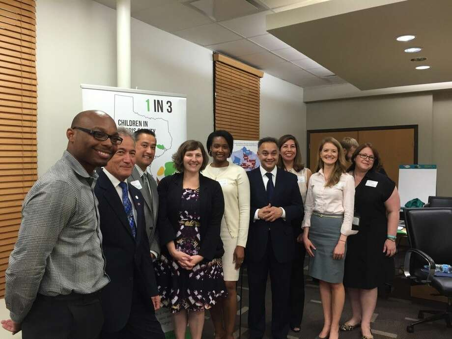 Pictured, (left to right)are Reginald Young, Houston Food Bank, Rep Gilbert Pena, Albert Change, HCPHES, Jennifer Rocaille Roberts, HCPHES, Umair Shaw, executive director, HCPHES, Linda Civallaro, Anna Brewster, Roselyn Lovello, MD Anderson Cancer Center. Photo: Y.C. Orozco