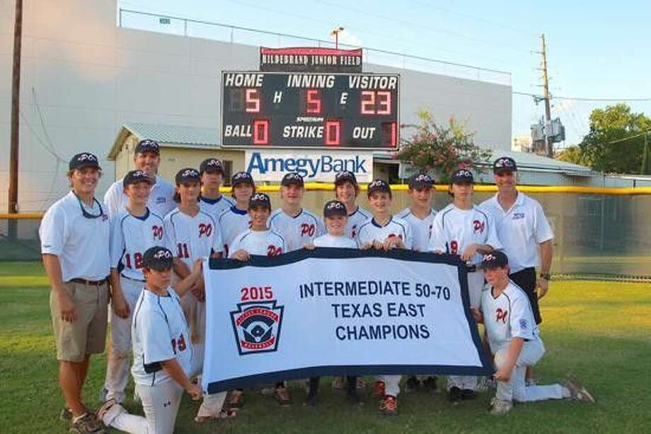 The Post Oak Little League Intermediates 50/70 13-14 year-old team won the Intermediates state championship last Tuesday night with a 23-5 win over a team from Tyler. The win puts them in the Intermediates Southwest Regional starting this Friday in Grand Junction, Colorado against the state champions from Arkansas. The team is playing for the opportunity to play in the Intermediates World Series in Livermore, California.