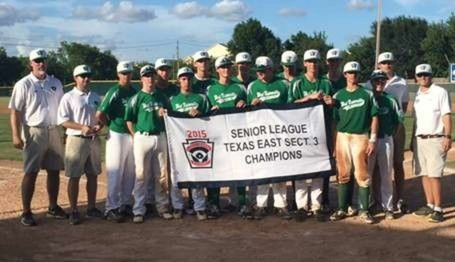 The West University Little League Senior League 15-16-year-old team holds up the Texas East Sectional 3 championship banner after they won the Sectionals last week with a convincing 10-0 win over OFA Little League in the finals. The Seniors have a veteran team this season with a lot of players returning from last year's team that won the Senior Little League world championship in Bangor, Maine in August. The Seniors are seeking their third world title in seven years.