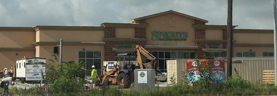 Construction continues at the Sprouts Farmers Market Store on 518. Sprouts Farmers Market is hiring 120 people Thursday (July 23) to open its new store in Pearland.