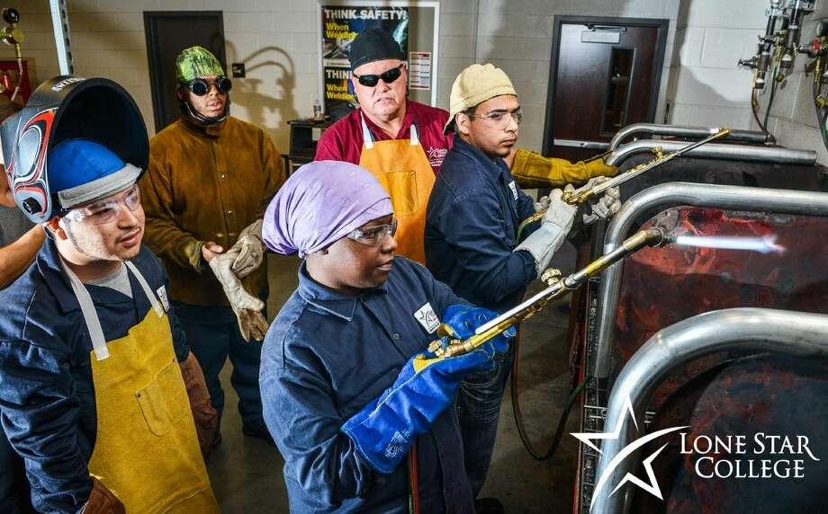 Lone Star College will begin to offer free workforce training in welding and ironworking for people facing financial hardships. Photo: Submitted