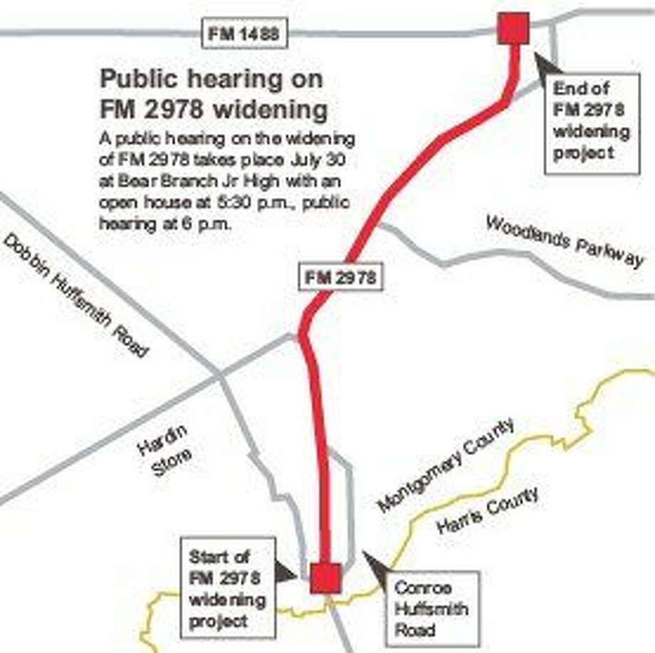 TxDOT to host public hearings on FM 2978 widening