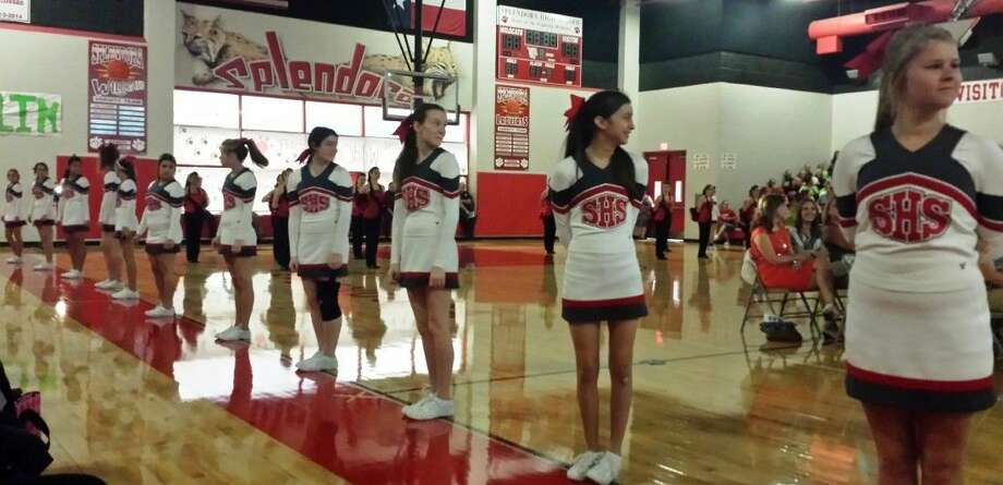 Splendora ISD cheerleaders were among those performing at the district's convocation ceremony, which was held on Monday, Aug. 18. Photo: STEPHANIE BUCKNER