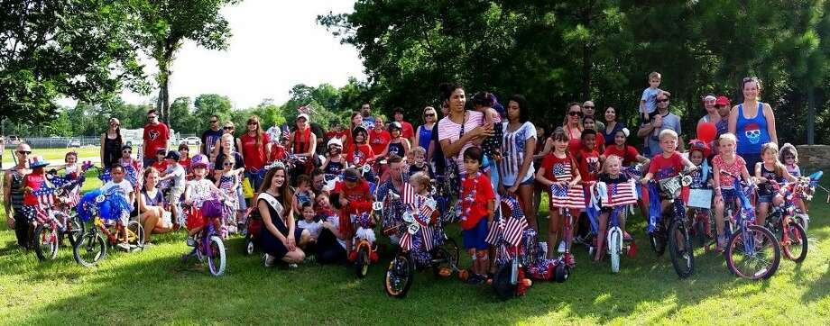 The Fourth in Unity Park Children's Bicycle/Tricyle and Scooter Parade garnered 39 participants this year from pre-k to 13 years old. Kids decked their wheeled units and themselves to celebrate the Fourth and this year's parade theme, Boulevard of Stars. Photo: Submitted