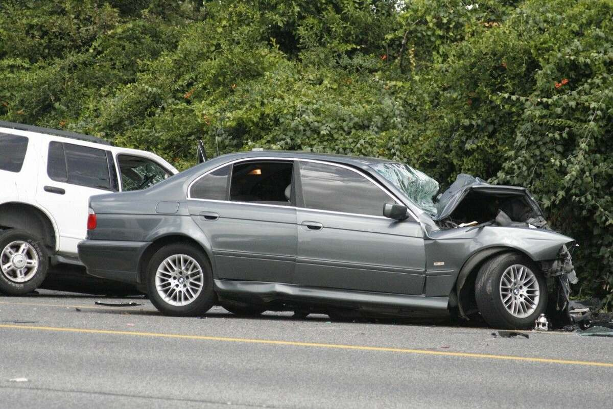 Harris County Sheriff's Office deputies shut down FM 1960 between Woodland Hills Dr. and Timber Forest Dr. for around two hours to determine what caused a BMW to reportedly cross into oncoming traffic.