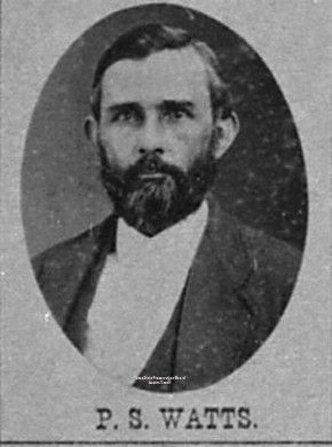 Pinkney Samuel Watts was Hardin County Judge and the founder of Saratoga, Texas, where he built a hotel for tourists he hoped would come there to take the waters. He was one of the representatives for the 1st House District, that included Liberty County, during the final days of Reconstruction. This image is from the Legislative Reference Library of Texas.