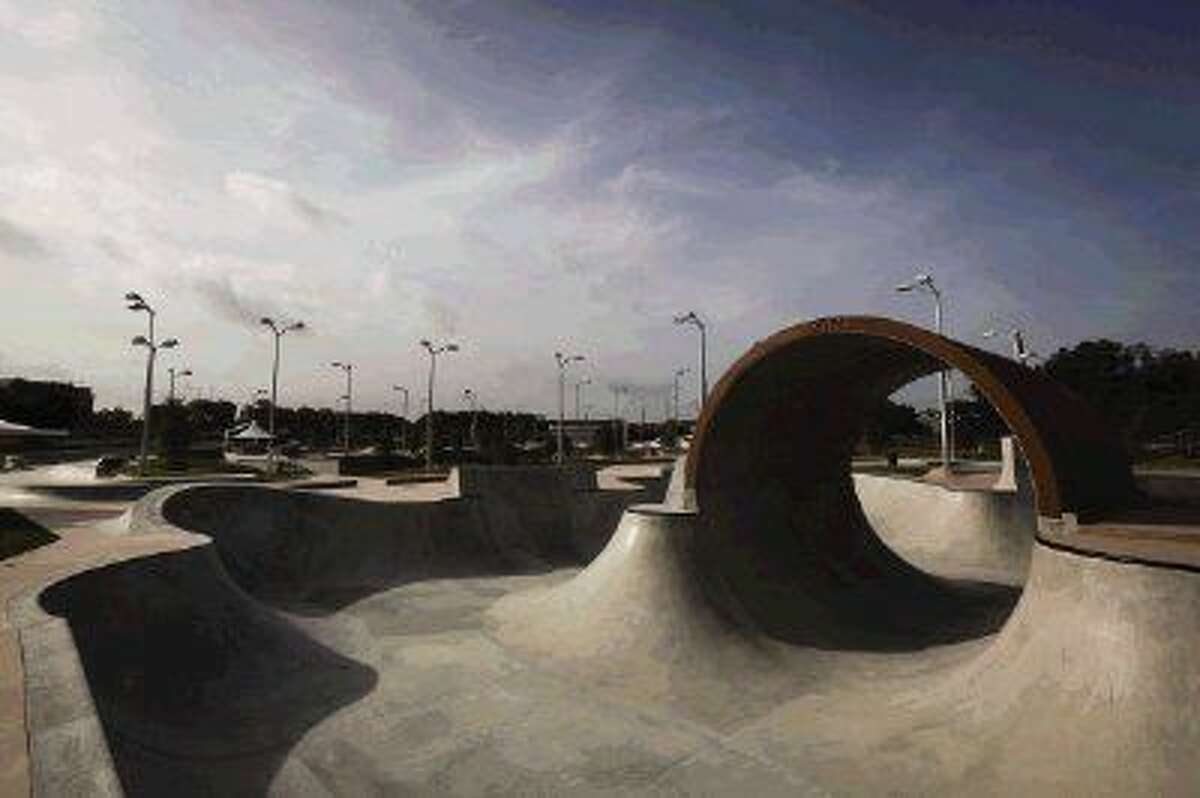 Spring Skatepark, the largest free skatepark in North America, opened on Thursday, Aug. 14, 2014.