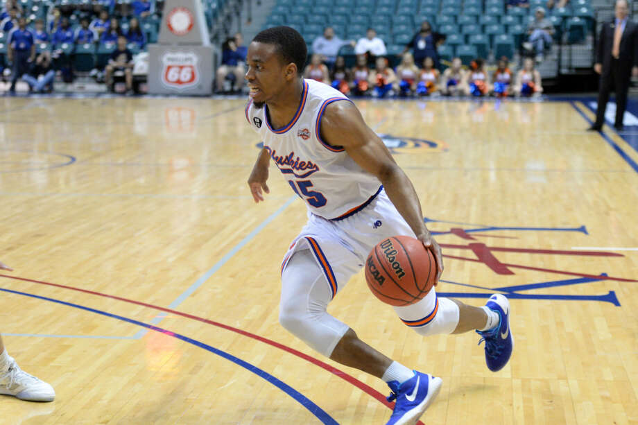 Houston Baptist University junior and Strake Jesuit graduate Reveal Chukwujekwu received Academic All-Southland Conference second-team honors after maintaining a 3.47 GPA and leading the Huskies to their first postseason appearance since returning to NCAA Division I. Photo: Craig Moseley