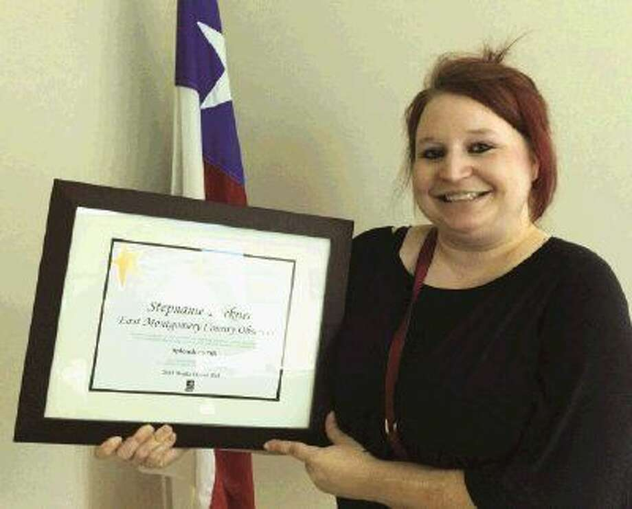 Reporter Stephanie Buckner of the Cleveland Advocate was named to the 2015 Media Honor Roll, a program sponsored by the Texas Association of School Boards (TASB), by the Splendora Independent School District.