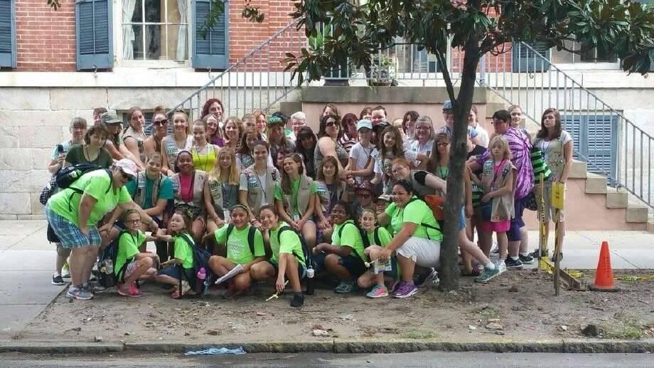 Girl Scout Troop 13514 of Tomball recently embarked on their Trip of a Lifetime to Savannah, Ga., where the founder, Juliette Gordon Low was born, as well as where the first Girl Scout meeting was held. Photo: Submitted