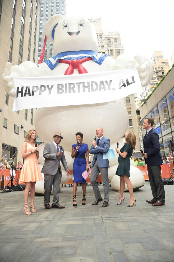 "The Today Show celebrates the anniversary of ""Ghostbusters.""  Pictured: (l-r) Natalie Morales, Al Roker, Tamron Hall, Matt Lauer, Meredith Vieira, Willie Geist -- (Photo by: Michael Loccisano/NBC) Photo: NBC"