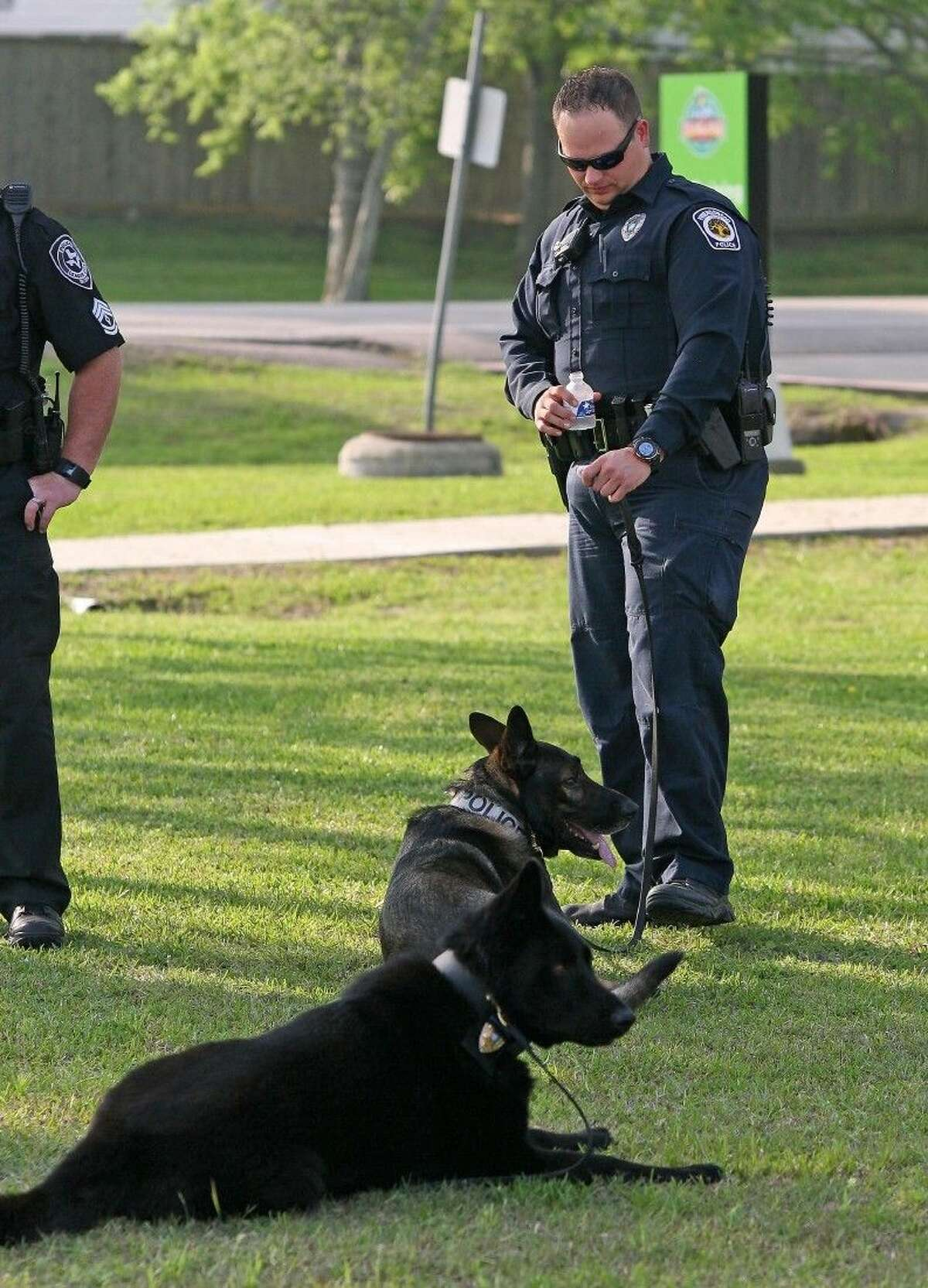 A Friendswood K9 units attended the memorial for