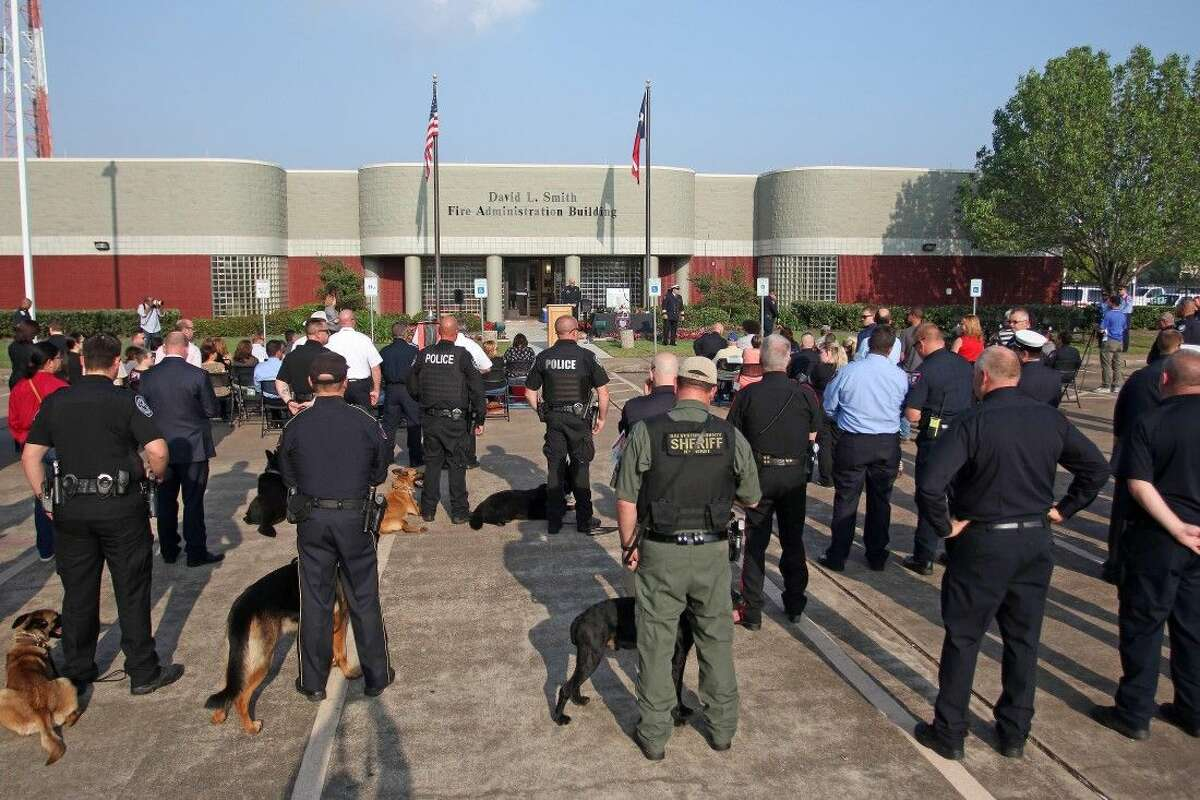 Along with emergency responders, other agency K9's attended the memorial.