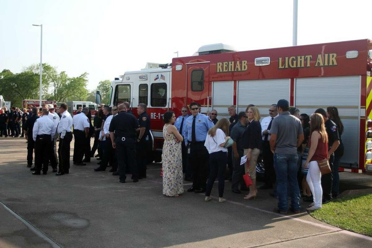 League City showed their support at the memorial.