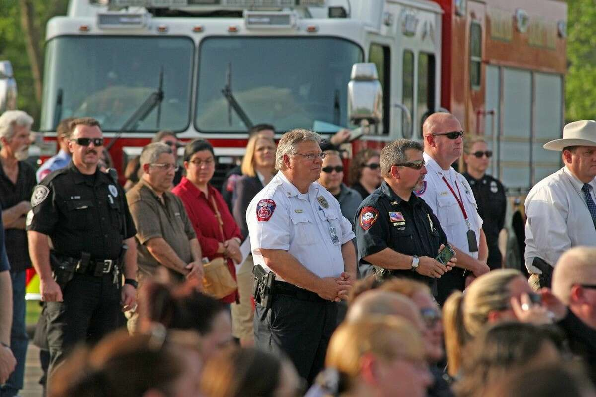 Emergency responders from all over attended the memorial.
