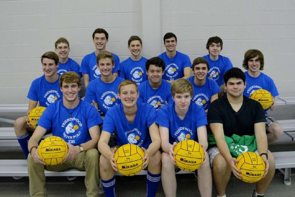 Members of the FHS boys' water polo team are Evan Metcalf, Sean Stanley, James Tomerlin, Colin DeLosSantos, Josh Haffelder, Nick Calapan, Thomas Nagle, Daniel Nagle, Daniel Holcomb, Thomas McHenry, Nico Monroig, Nick Schmutz, and team captains Andrew Saul and Woody Connell.