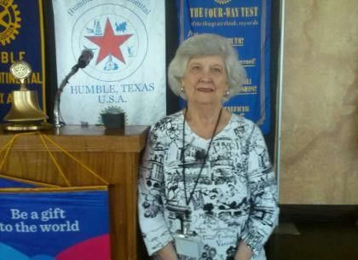 Carol Moffett, longtime Humble Area Assistant Ministries volunteer, spoke about HAAM's many life-changing initiatives at the Humble Rotary on Wednesday, July 22, 2015.