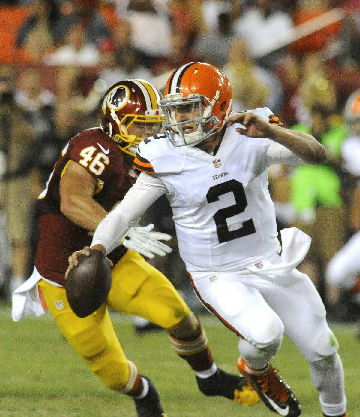 Cleveland Browns quarterback Johnny Manziel will begin the season as Brian Hoyer's backup.