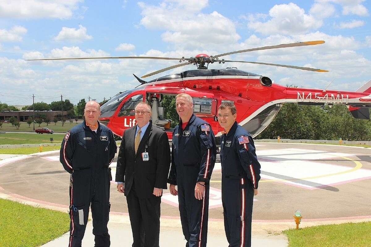 Price (second from left) with a Life Flight team.