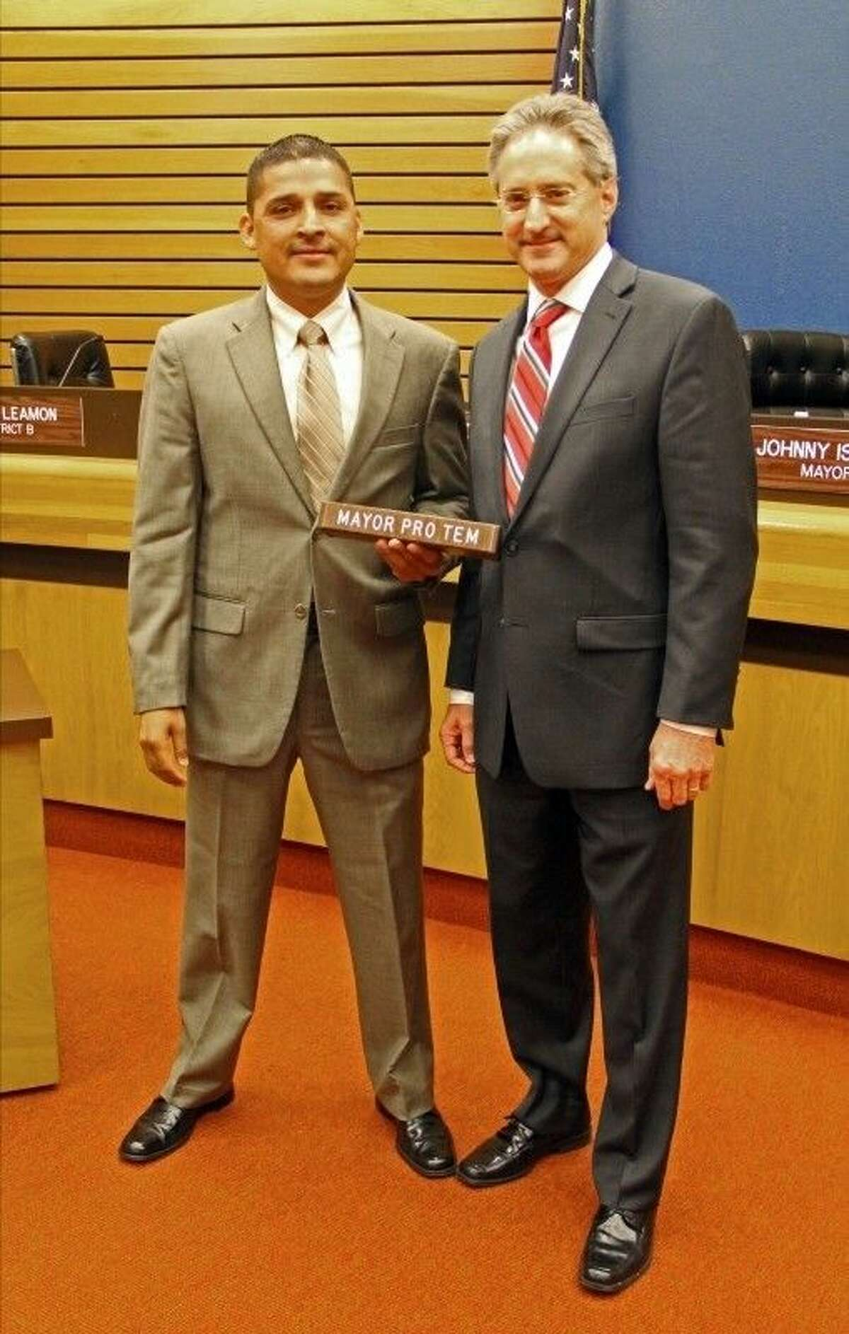 Pasadena City Councilmembers Ornaldo Ybarra (left) and Darrell Morrison (right) were elected to serve as Mayor Pro Tem at a council meeting held Tuesday (July 21).
