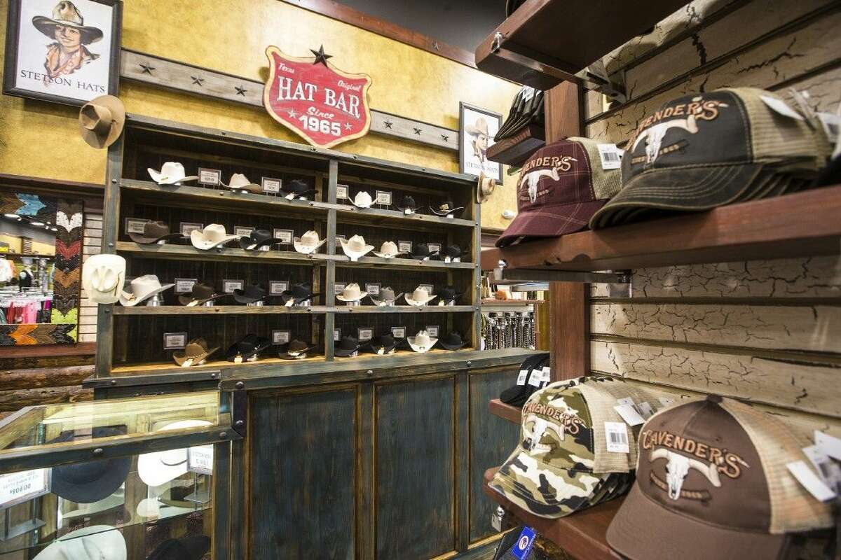 A selection of hats at Cavender's new store Aug. 22, 2014, located at 9225 FM 1960 Bypass in Humble.