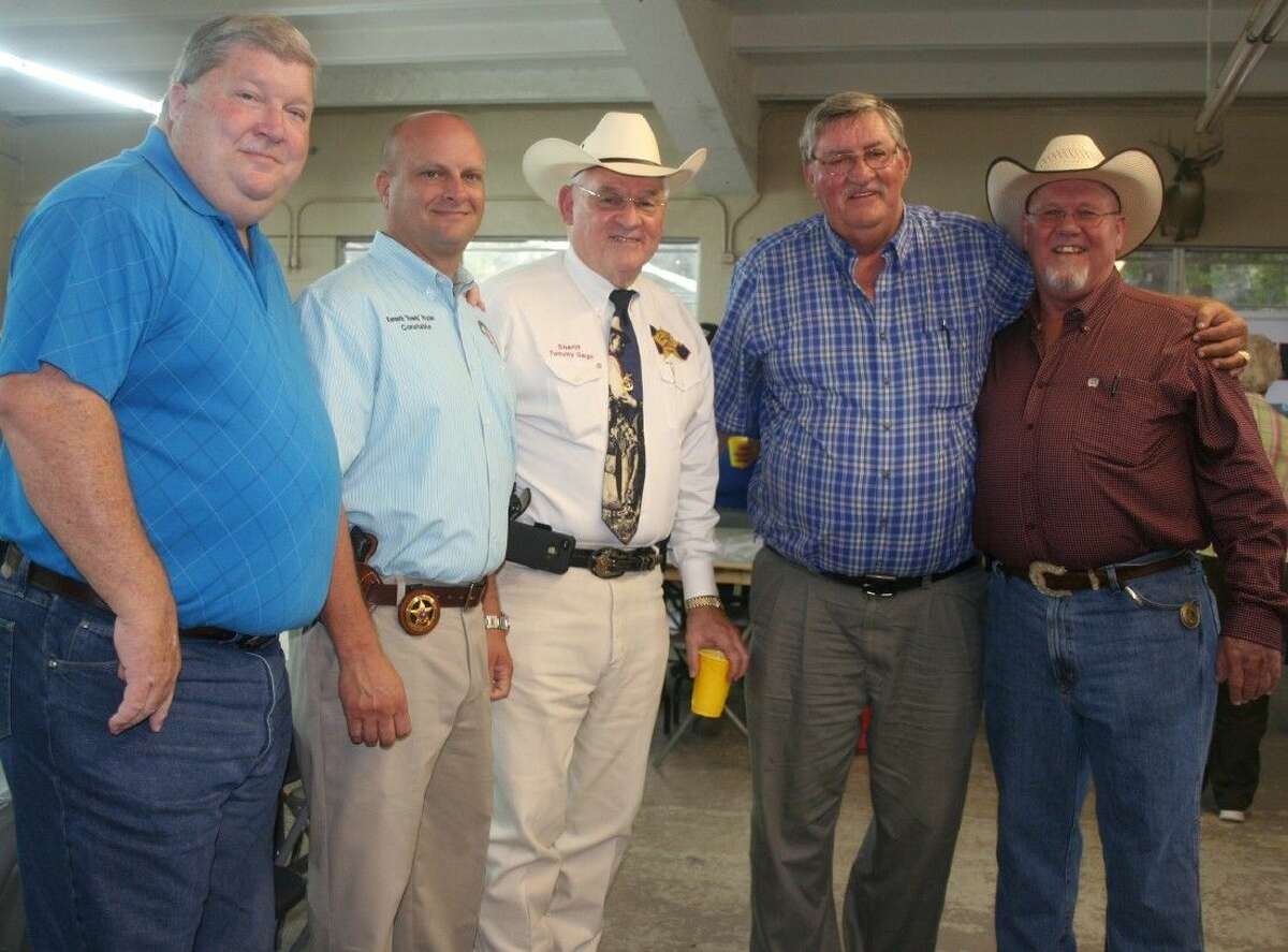 Several elected officials and friends of Montgomery County Pct. 4 Commissioner Ed Rinehart, including Pct. 4 Constable Rowdy Hayden, Sheriff Tommy Gage and Commissioner-elect Jim Clark helped his celebrate his 70th birthday with a surprise party, which was held on Aug. 21 at Little Country Church.