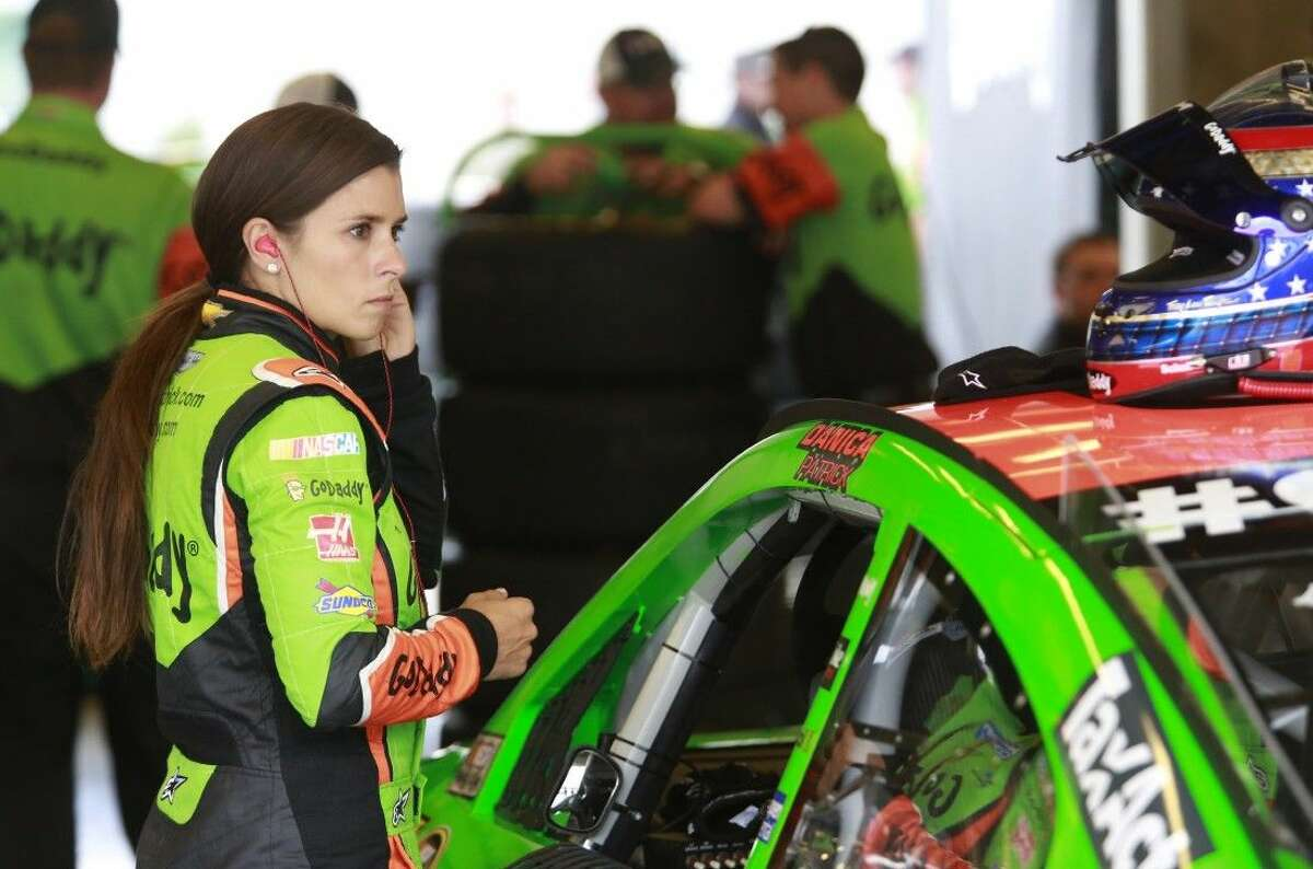 Sprint Cup Series driver Danica Patrick prepares to practice for the NASCAR Brickyard 400 auto race at Indianapolis Motor Speedway in Indianapolis, Friday.