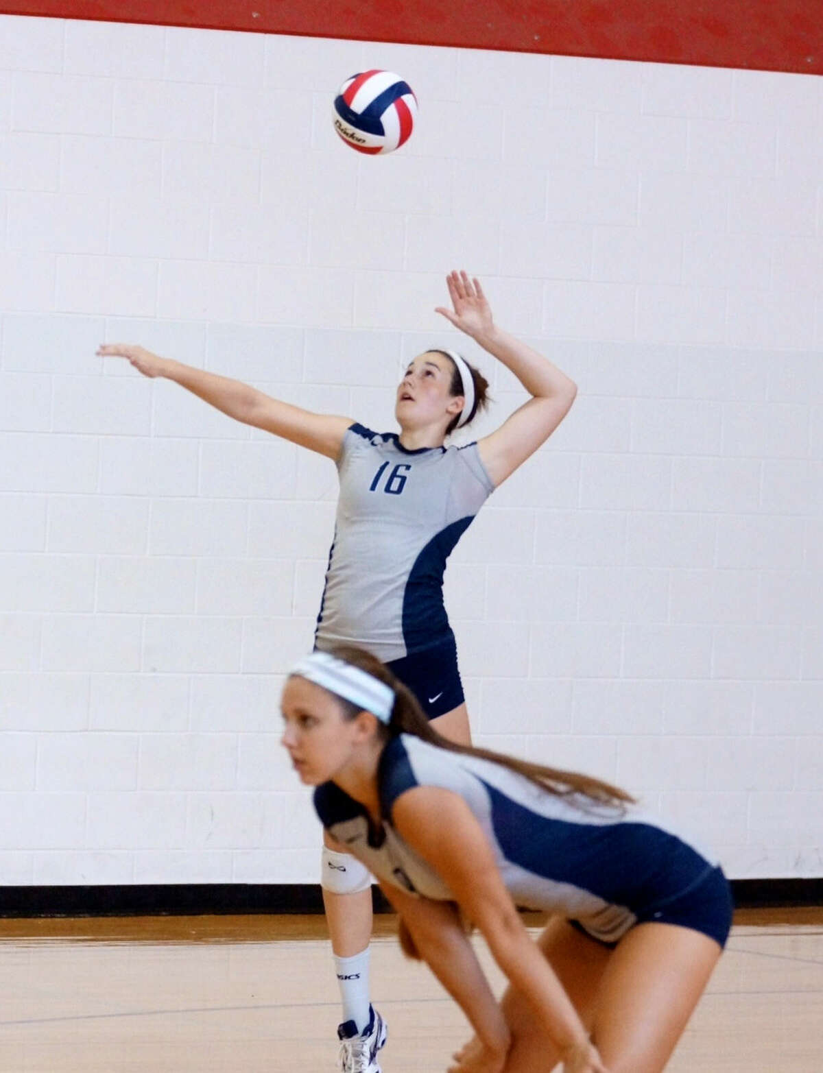 College Park's Hannah Erwin serves during a match at the Spring Branch tournament Friday.