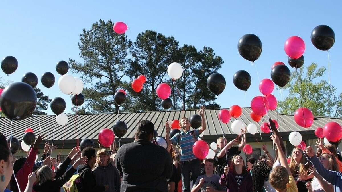 Lincoln Junior High students commemorated the week of STAAR testing with a balloon release on Monday, March 28.