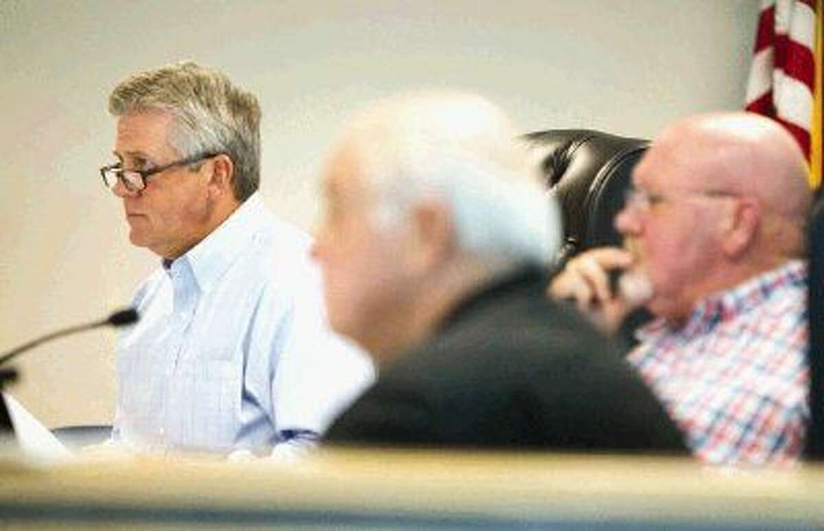 Montgomery County Judge Craig Doyal listens to budget discussions during the county's budget meeting Tuesday.