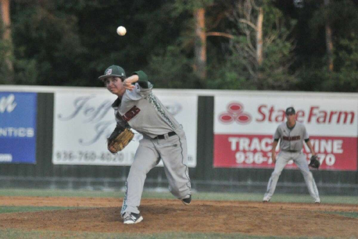 The Woodlands pitcher Steven Beard delivers a pitch against Conroe on Friday.