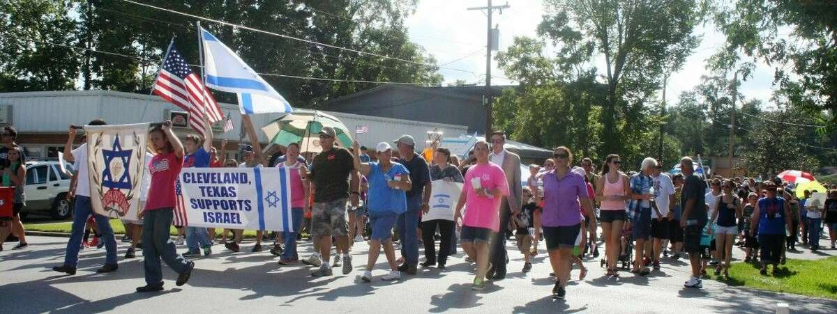The Aug. 23 Rally for Israel, which concluded with a ceremony at Veterans Memorial Park, included over 300 community members marching in support of Israel.