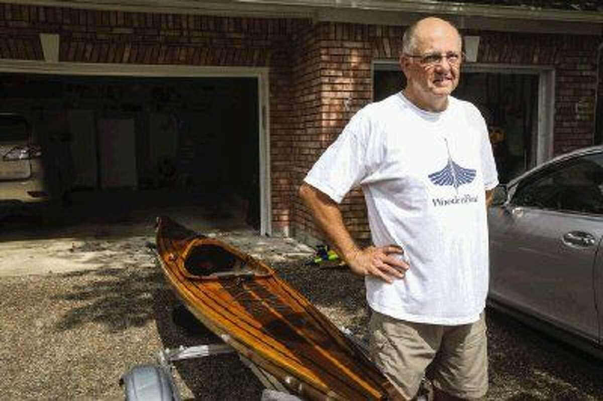 Richard Purgason, who had no prior experience with woodworking, built and successfully launched this wooden kayak after taking a class and researching the craft.