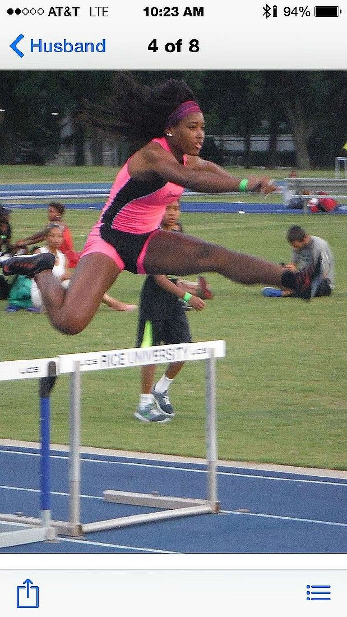 Paige Kimble will compete in the hurdles among other events at the AAU Junior Olympics.