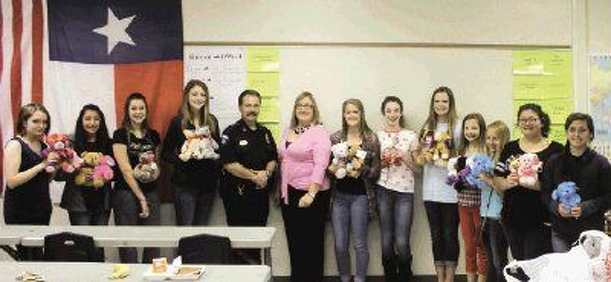 The Splendora Junior High Student Council collected teddy bears the entire month of March and decided to donate them to the Patton Village Police Department.