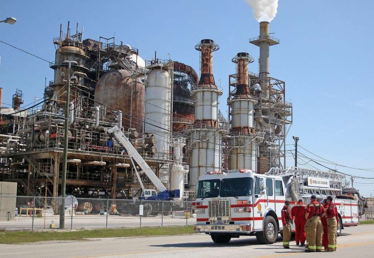 Deer Park's Shell plant ladder truck responded to the fire at the LyondellBasell plant.