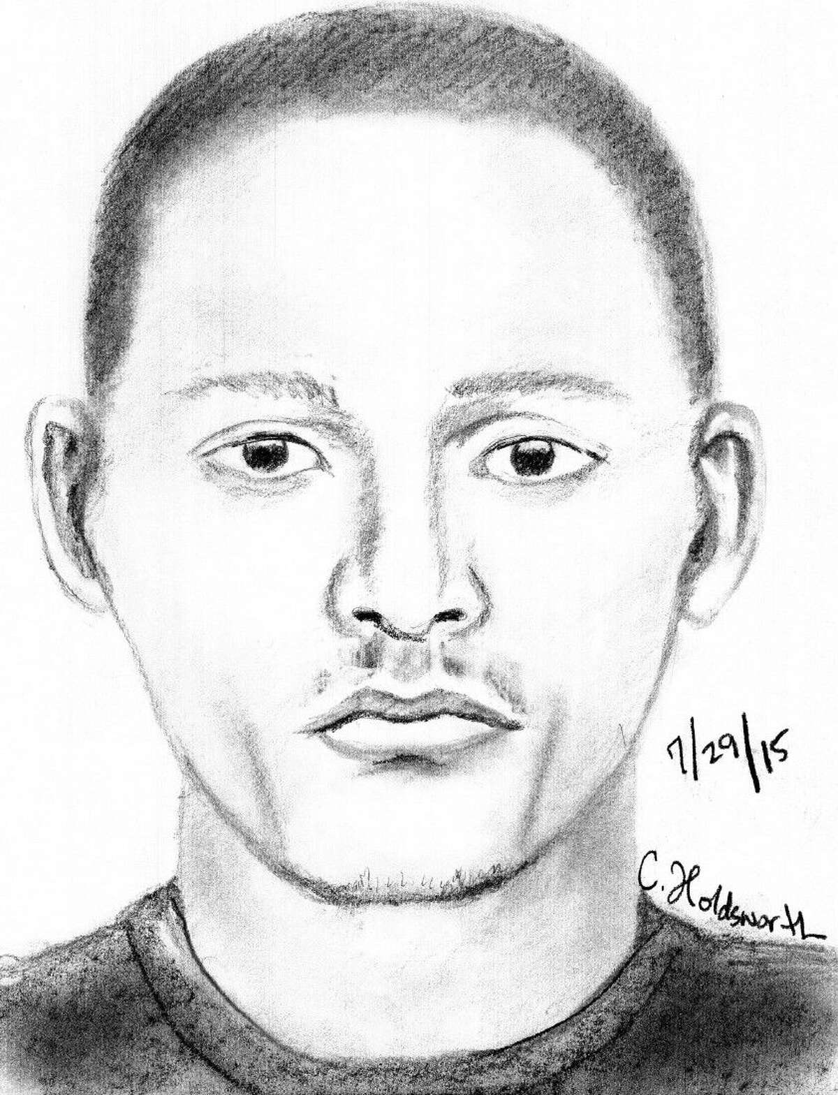 Sketch of one of the three Home break-in suspects