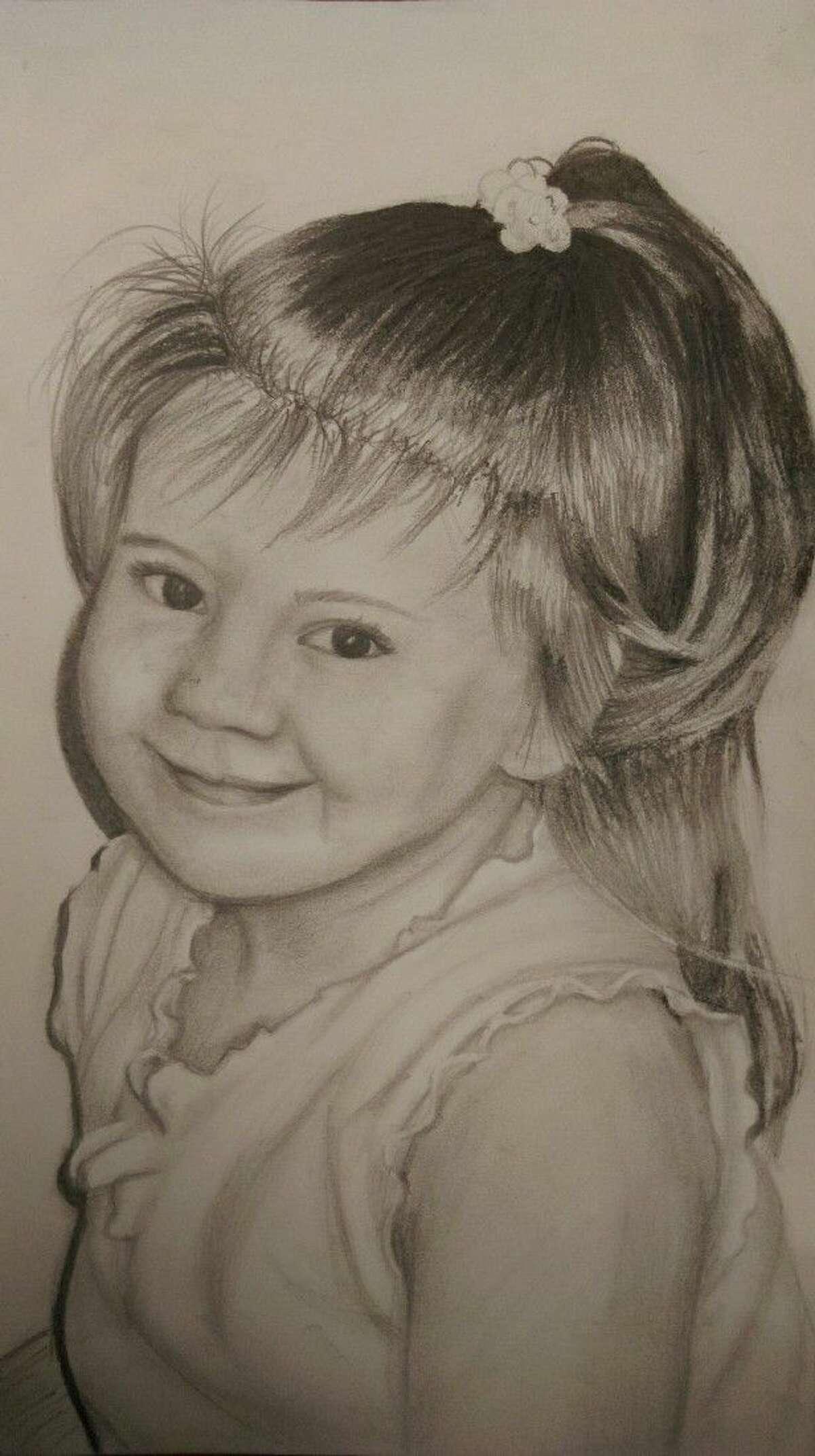 Innocence Drawing & Illustration by Madison Keller, Kingwood Park High School; Instructor: Melanie Hunt.