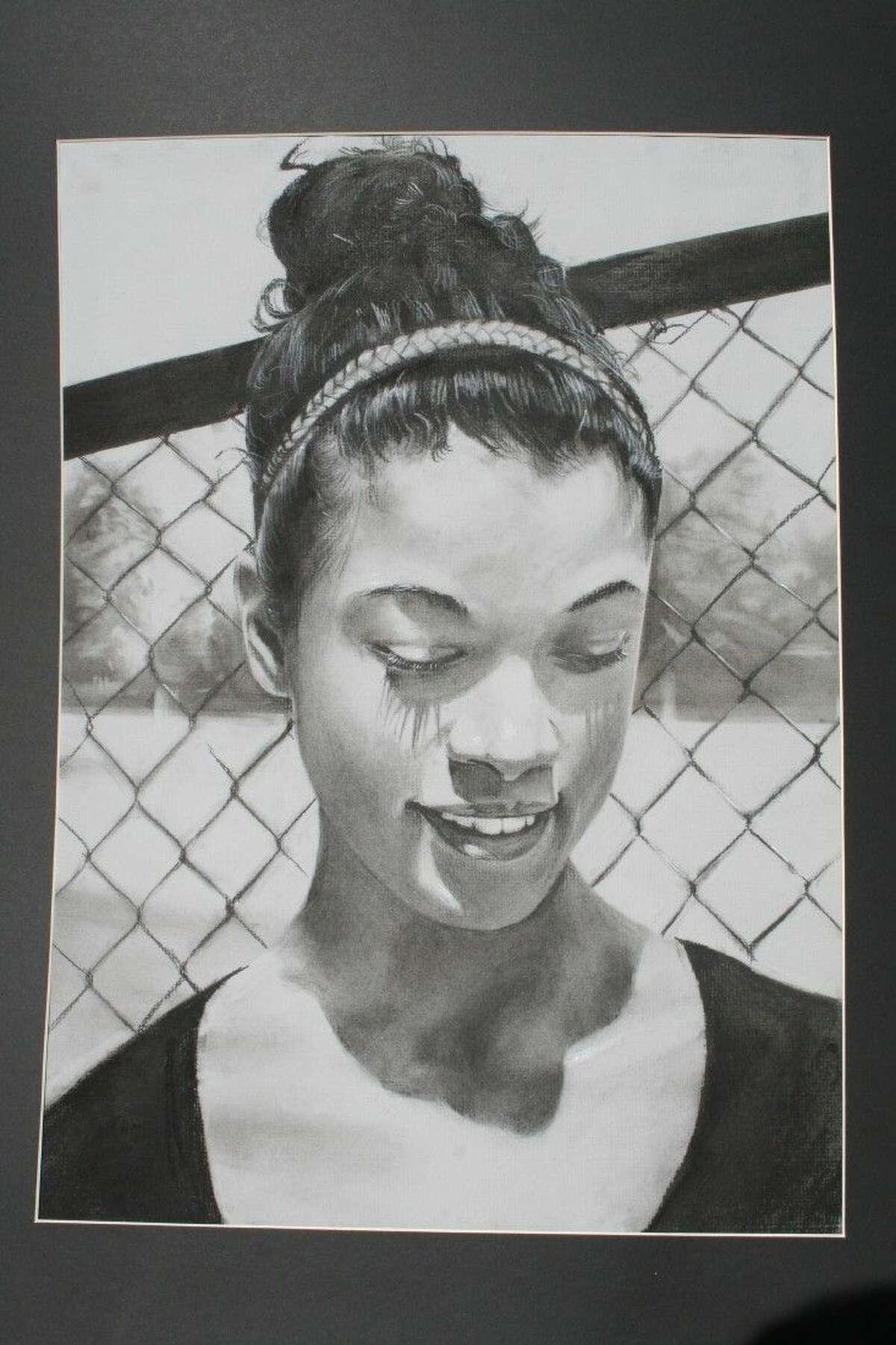 Happiness Drawing & Illustration by Kurt Arzaga, Atascocita High School; Instructor: Steffani Zachry-Holubec.