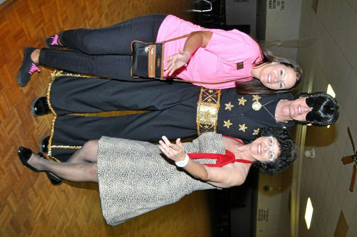 Leaders at the 50's Dance Party and Sock Hip are pictured from left Christina Womack President/CEO of the Pasadena Chamber of Commerce and Gordon and Gail smith, Event Chairs.