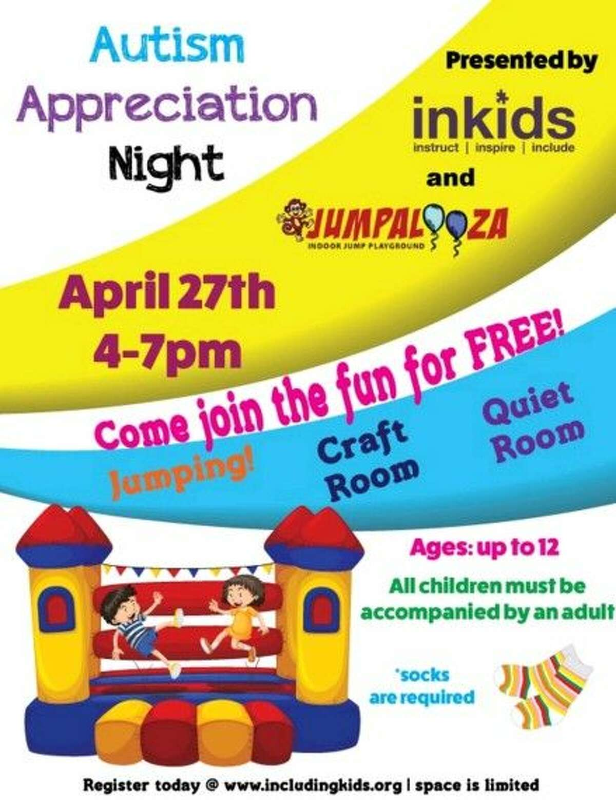 InKids has partnered with Jumpalooza in Humble to host Autism Appreciation Night at Jumpalooza Wednesday, April 27 from 4 p.m. to 7 p.m.