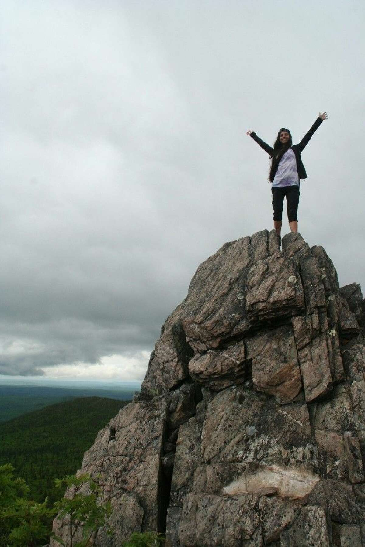 College of the Mainland student Stephanie Najera scaled peaks on a study abroad trip funded by the North American Mobility Grant. She and her classmates explored Canadian geology on a study abroad trip funded by the North American Mobility grant.