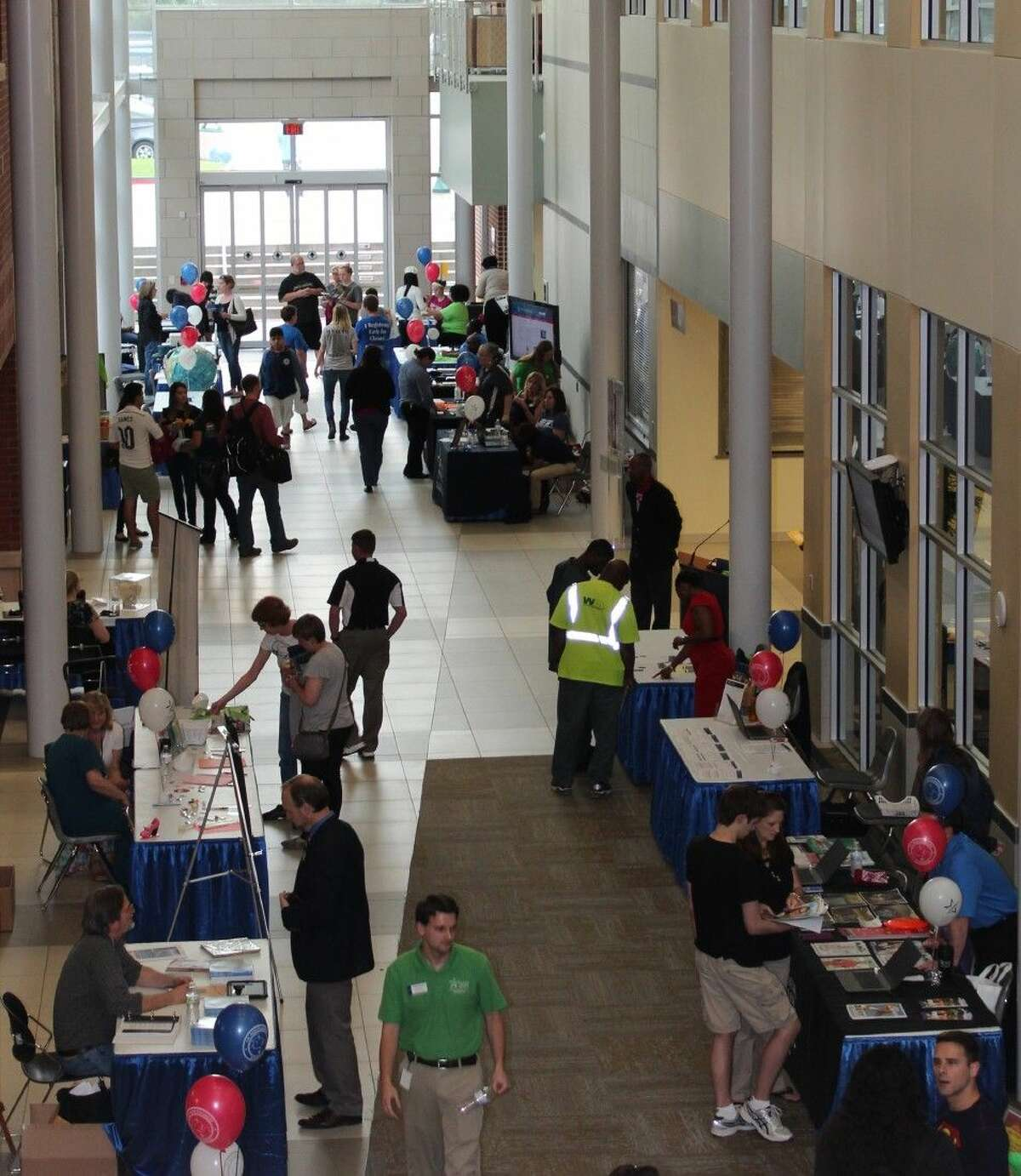 Attendees learn about all LSC-Montgomery has to offer at Maverick Mania. The open house event will be held Thursday, April 14, from 4-7 p.m., in the atrium of the Health Science Center (Building B).